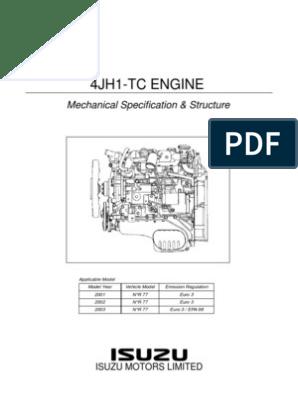 isuzu 2 3l engine diagram 4jh1 tc mec  nica piston motor oil free 30 day trial scribd  4jh1 tc mec  nica piston motor oil