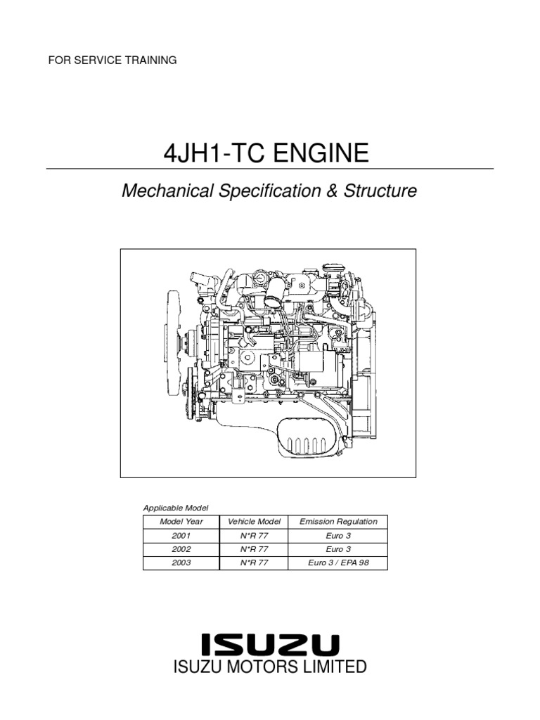 Isuzu 5 2 Engine Diagram Block And Schematic Diagrams 4jh1 Tc Mec Nica Internal Combustion Piston Rh Scribd Com 52 Fuel Valve