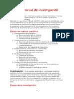 El protocolo de investigación Manual