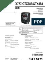 Sony Mhc-gtx787 Gtx888 Brasil Sm
