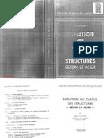 Initiation au calcul des structures Béton et Acier