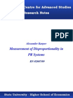 Karpov. Measurement of disproportionality in proportional representation systems