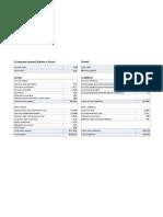 Balance Sheet With Ratio-working Capital
