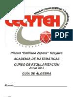 Regularización Jun 2013 Álgebra
