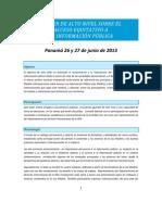 Metodología de trabajo PANAMA