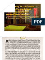 The Majority Text & Textus Receptus Vs. the Critical Text Editions and the Modern Bible Versions, NET Third Edition (Revised)
