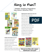 2nd grade Summer Reading List 2013