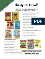 3rd grade Summer Reading List 2013