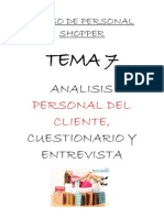 Tema 7- Analisis Personal Del Cliente Cuestionario y Entrevista