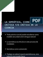 La semiótica, ciencia crítica