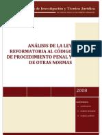 Analisis Codigo Procedimiento Penal Reformas 2009