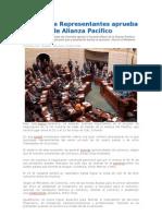 Cámara de Representantes aprueba el Marco de Alianza Pacífico