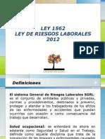 Presentacion Ley 1562 de 2012