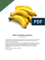 Dieta Cu Banane Japoneza
