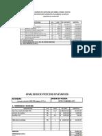 Presupuesto, Apus y Cronograma 105