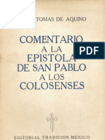 Comenterio a los colosenses. Sato Tomas..pdf