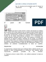 Manual Breve Para Aprender a Utilizar El Teclado Del PC