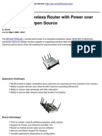 Access Point_Wireless Router With Power Over Ethernet (PoE) Open Source
