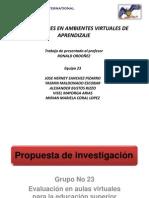 PROPUESTA DE INVESTIGACIÓN GRUPO 23