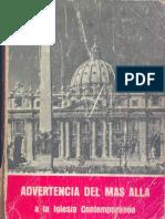 Bonaventur Meyer - Advertencia Del Mas Alla a La Iglesia Contemporanea