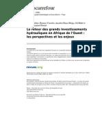 Geocarrefour 7205 Vol 84-1-2 Le Retour Des Grands Investissements Hydrauliques en Afrique de l Ouest Les Perspectives Et Les Enjeux