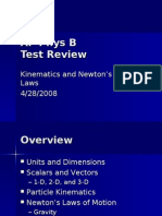 AP Phys B Review - Kinematics and Newton's Laws