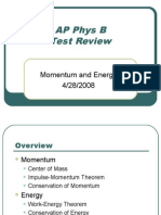 AP Physics B Review - Energy and Momentum