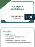 AP Physics B Review - Fluid Dynamics