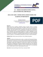 MODELO DE DISEÑO INSTRUCCIONAL  DE DICK Y CAREY