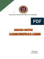 Analisis Critico de La Calidad Educativa en El E-learning