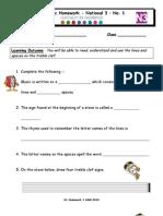 Homework Sheet LEVEL 3 No. 1