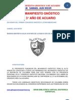 02 53 ORIGINAL Gran Manifiesto Gnostico Del Tercer Ano de Acuario Www.gftaognosticaespiritual.org