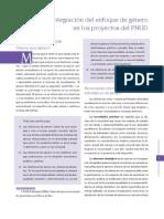 PNUD - Enfoque de Genero en Proyectos