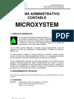 Caracteriscas Sistema Contable Microxystem.