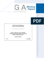 DESTRADI,S._empire, Hegemony, And Leadership Developing a Research Framework for the Study of Regional Powers