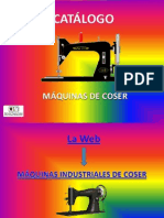 Catalogo Maquinas de Coser