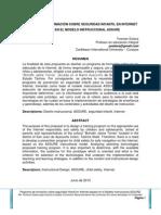 Propuesta de formación sobre seguridad infantil en internet basada en el modelo instruccional ASSURE