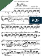 Giuliani Variaciones Para Violin y Guitarraop.24