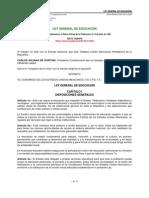 Ley General de Educacion- Reforma Al Art 25