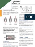 Informations Generales Electro-Aimants 0507