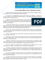 june25.2013Stiffer penalties vs. persons using children in the commission of crimes