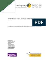 Marktonderzoek online adverteren, FD-Mediagroep 2005