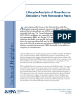 EPA - Lifecycle Analysis of Greenhouse Gas Emissions From Renewable Fuels