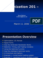 Optimization 201 Seminar