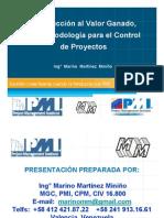 Presentación Introducción al Valor Ganado, PMI Valencia, Venezuea