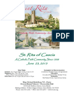 St. Rita Parish Bulletin 6/23/2013