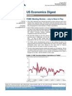 "Credit Suisse US Economics Digest - FOMC Meeting Review – ""July is Now in Play"", June 19, 2013"