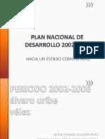 Plan Nacional de Desarrollo 2002-2006