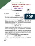AP_ResearchLab(Engineering)Paper-II for CIVIL ENGNEERS