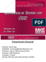Redundancia de Routers Con VRRP